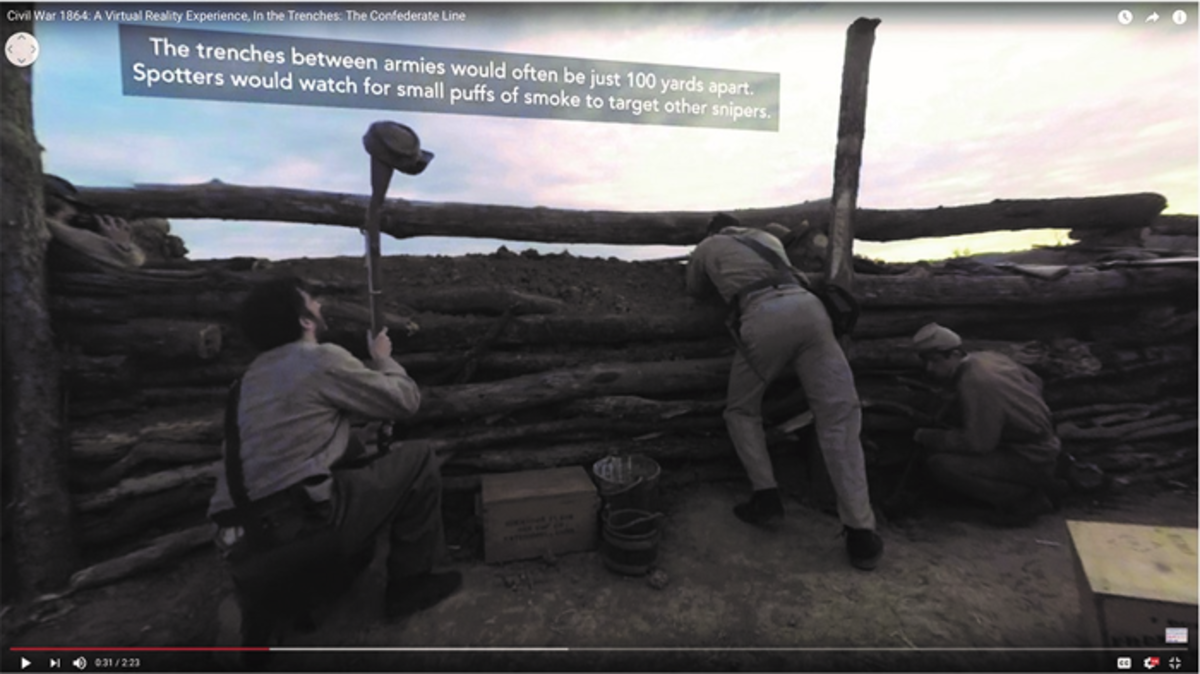 "A scene from American Battlefield's ""Civil War 1864: A Virtual Reality Experience"""