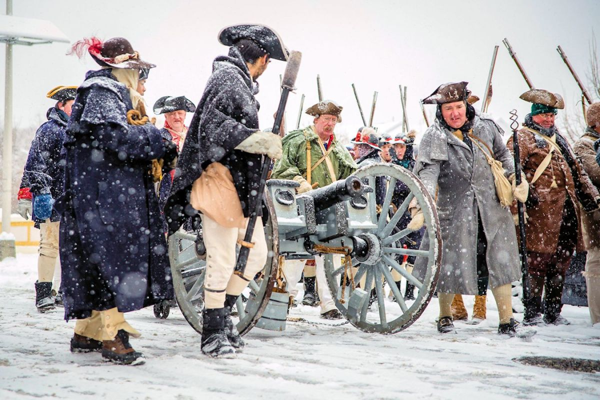 Reenactors revive the memory of the Second Battle of Trenton at Trenton Battle Monument Battle Monument Park.