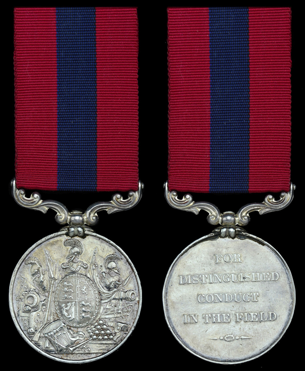 The Crimean War Distinguished Conduct Medal awarded to Private John 'Butcher Jack' Fahey, 17th Lancers, who rode in the charge of the Light Brigade at Balaklava sold for £23,560.