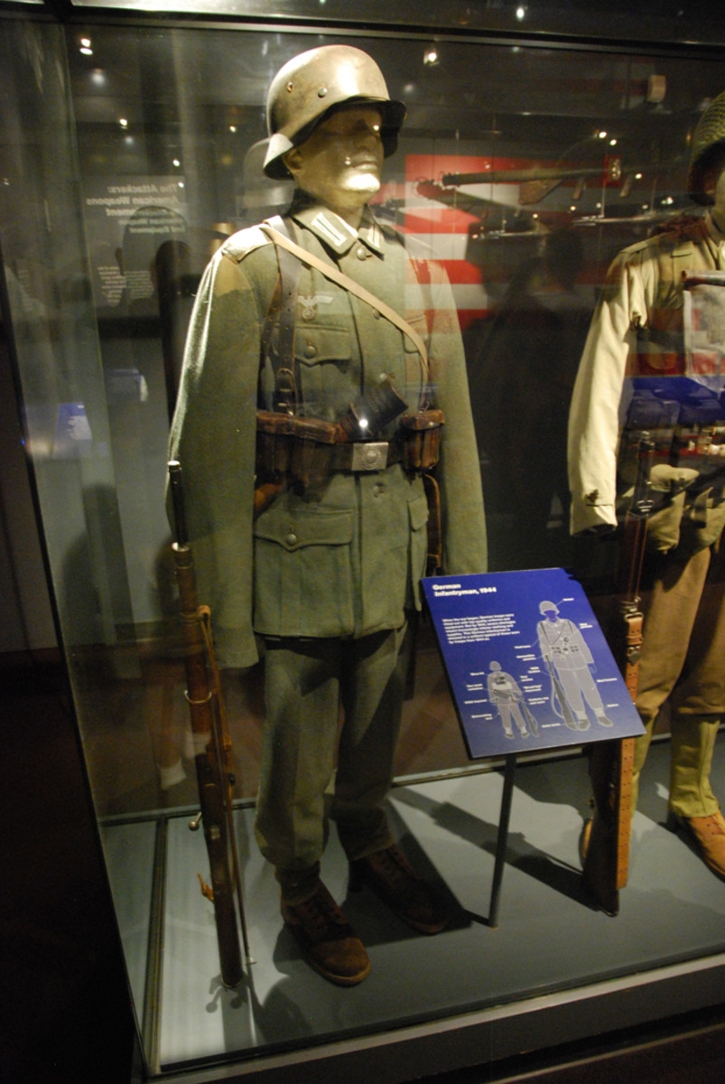 The National World War II Museum features an extensive collection of uniforms and military equipment including many German items that were donated to the museum by actual D-Day veterans.