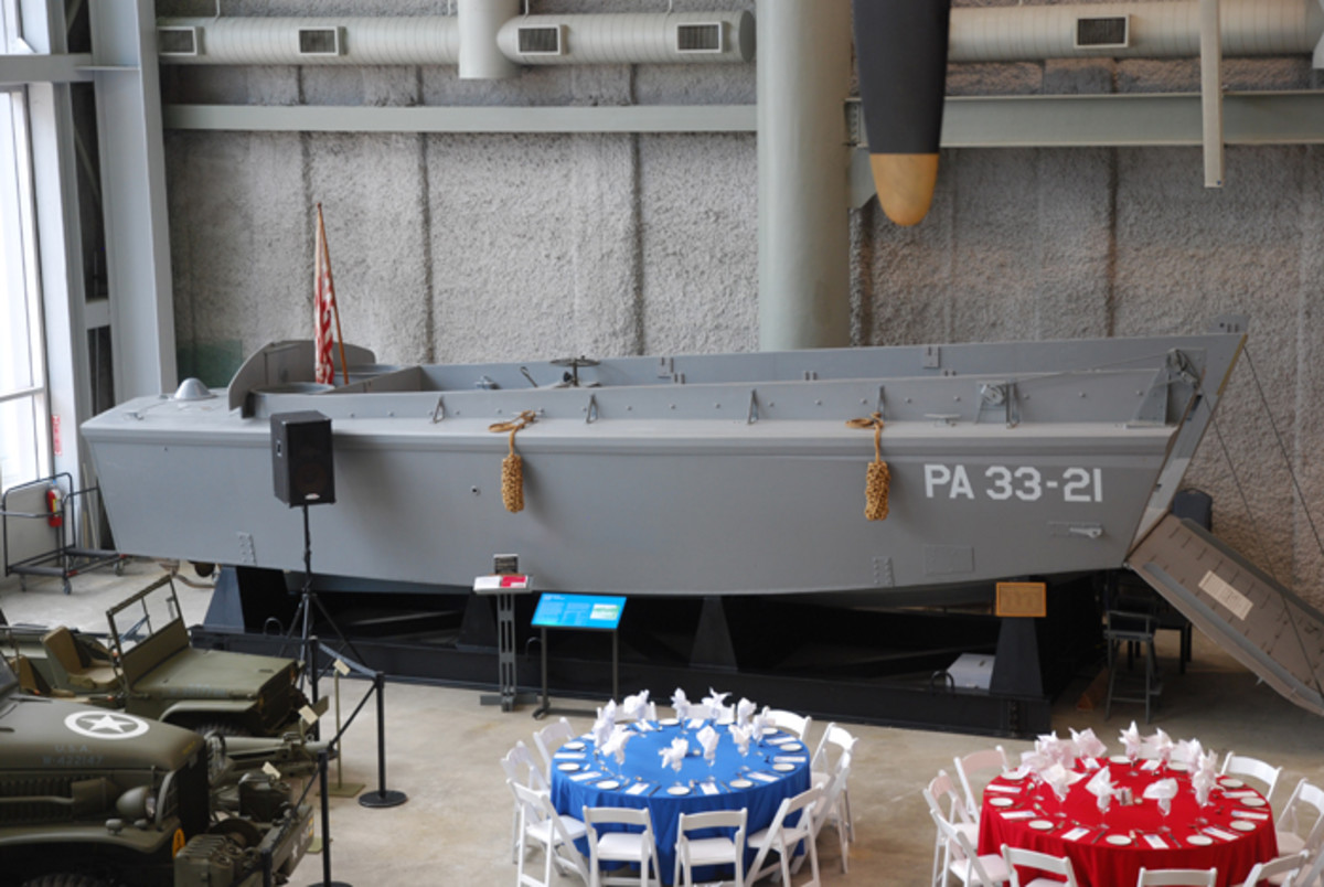 The National World War II Museum is very much in New Orleans because of the Higgins Boat – it was in the Big Easy where the landing craft, vehicle personnel (LCVP) was developed.