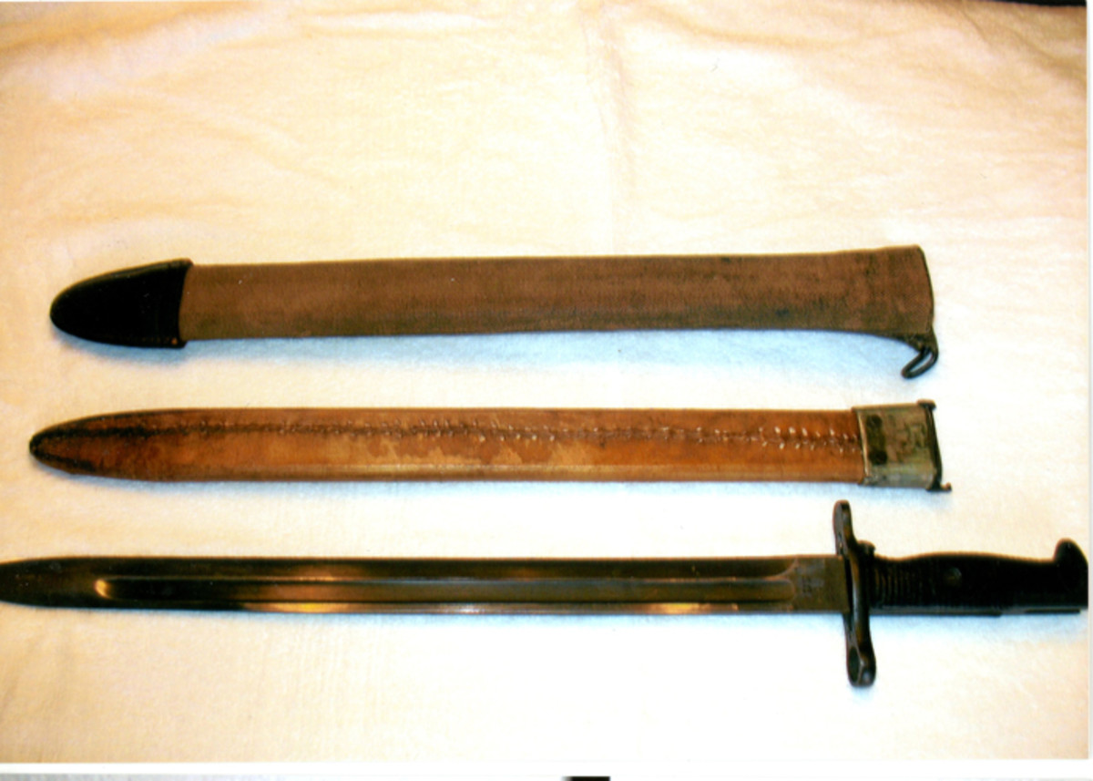 When he was just a boy, Michael Szczepaniak's dad gave him this M1905 bayonet. The Army had issued the bayonet to him in 1941, but he was told he could send it home when he entered the tank service.