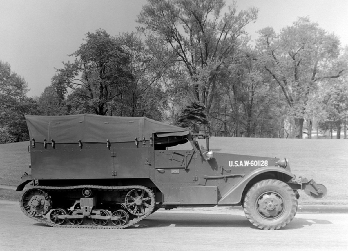 The prototype for the M2 was the T14, built by the White Motor Company in Cleveland, Ohio. Powered by a White Model 20A engine, the vehicle was driven from Cleveland to Aberdeen Proving Ground, Maryland for testing in May 1940. This vehicle had the drive sprocket at the rear and all-steel bogie wheels, features that were changed, along with a more powerful engine and wider track before the vehicle was standardized as the M2.
