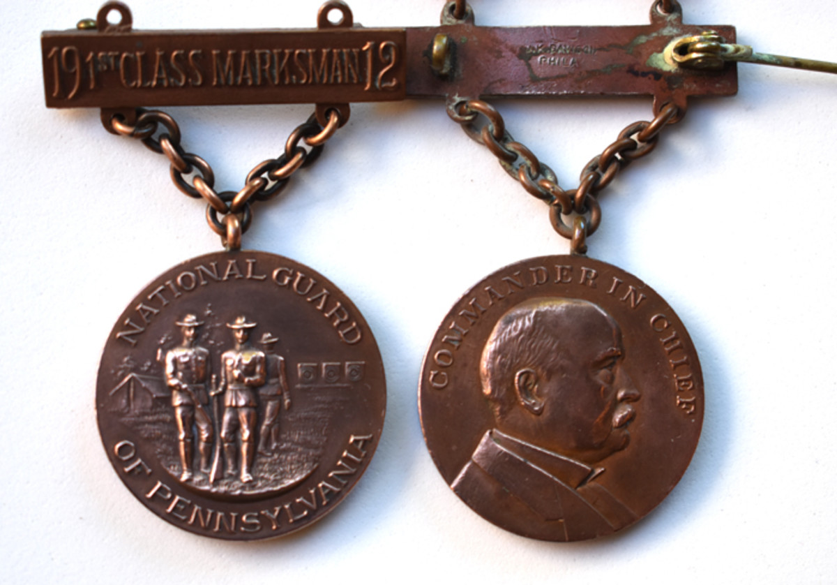 Governor Stuart started the trend of using the state Commander-in-Chief's image on Type 2 Rifle badges.