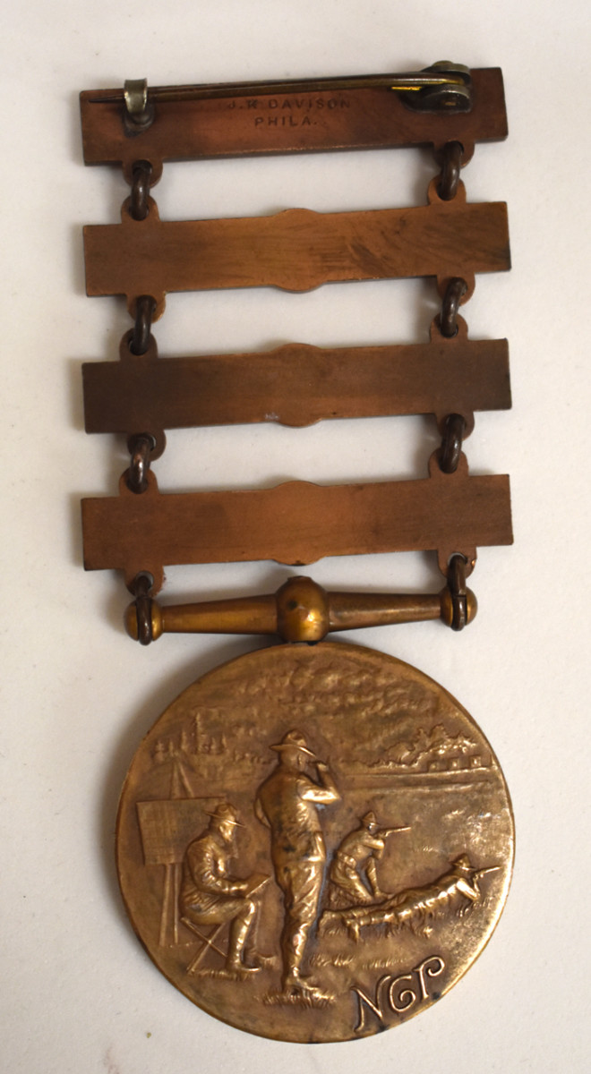 The Type 4 medal had a new reverse depicting a firing range.