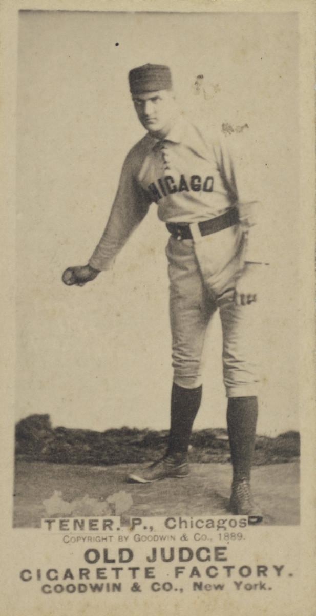 Historic Baseball card featuring John K. Tener, Pitcher for the Chicago White Stockings.