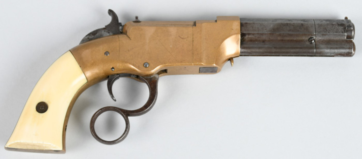 Highly desirable New Haven Volcanic lever-action pistol, .31 caliber, one of only 3,300 made from 1857-1860, Serial #1141.