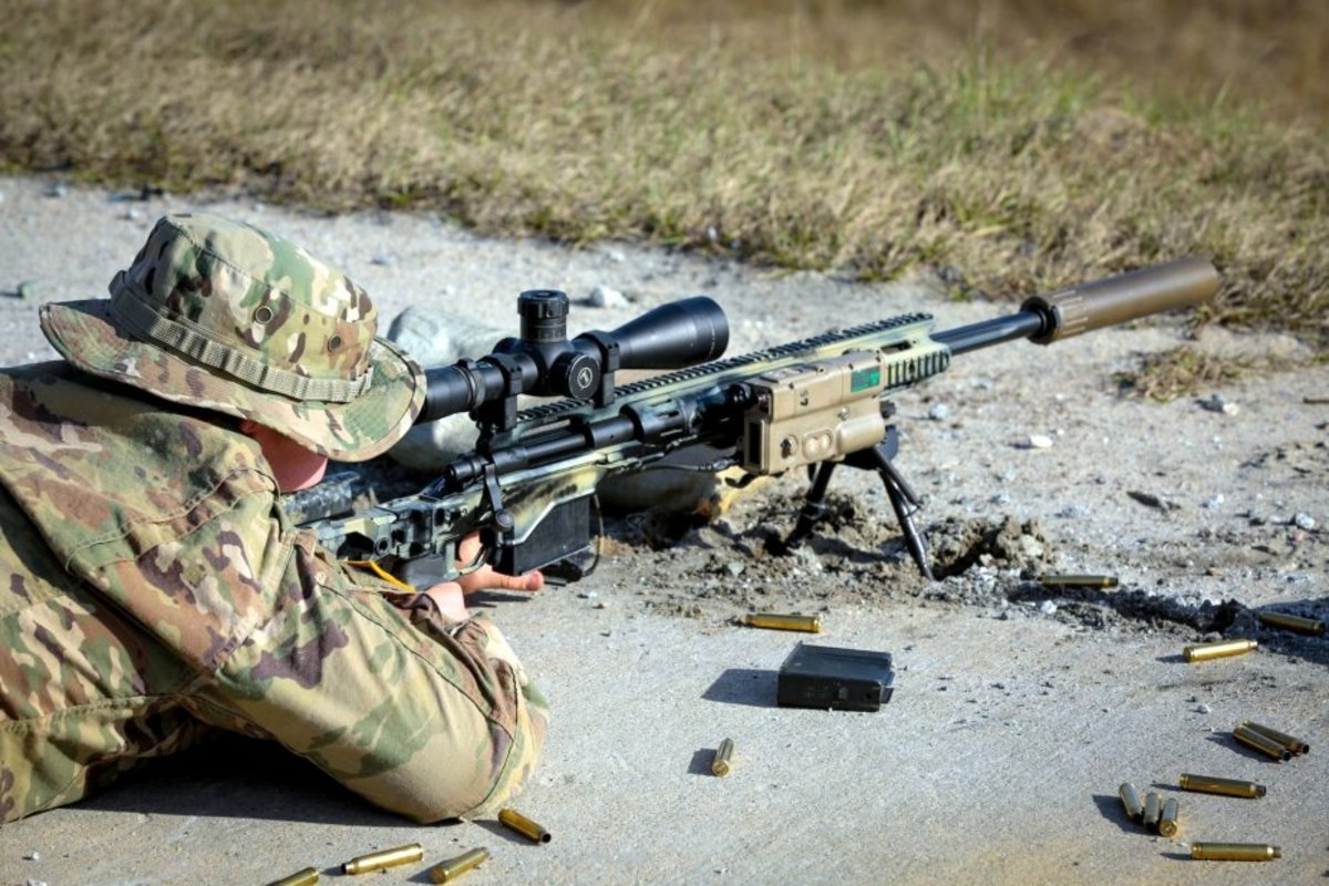 U.S. sniper firing with an M2010 Enhanced Sniper Rifle (Picture source: Horace Markeith)