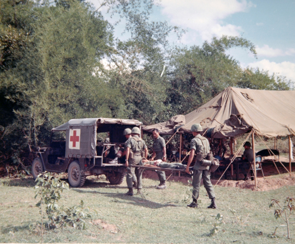 The MUTT was also produced in an ambulance version – in this case the M718 – which could transport up to four patients, in addition to the driver. This Royal Thai Army Volunteer Force team was photographed in 1969 during training in preparation of deployment to Vietnam.