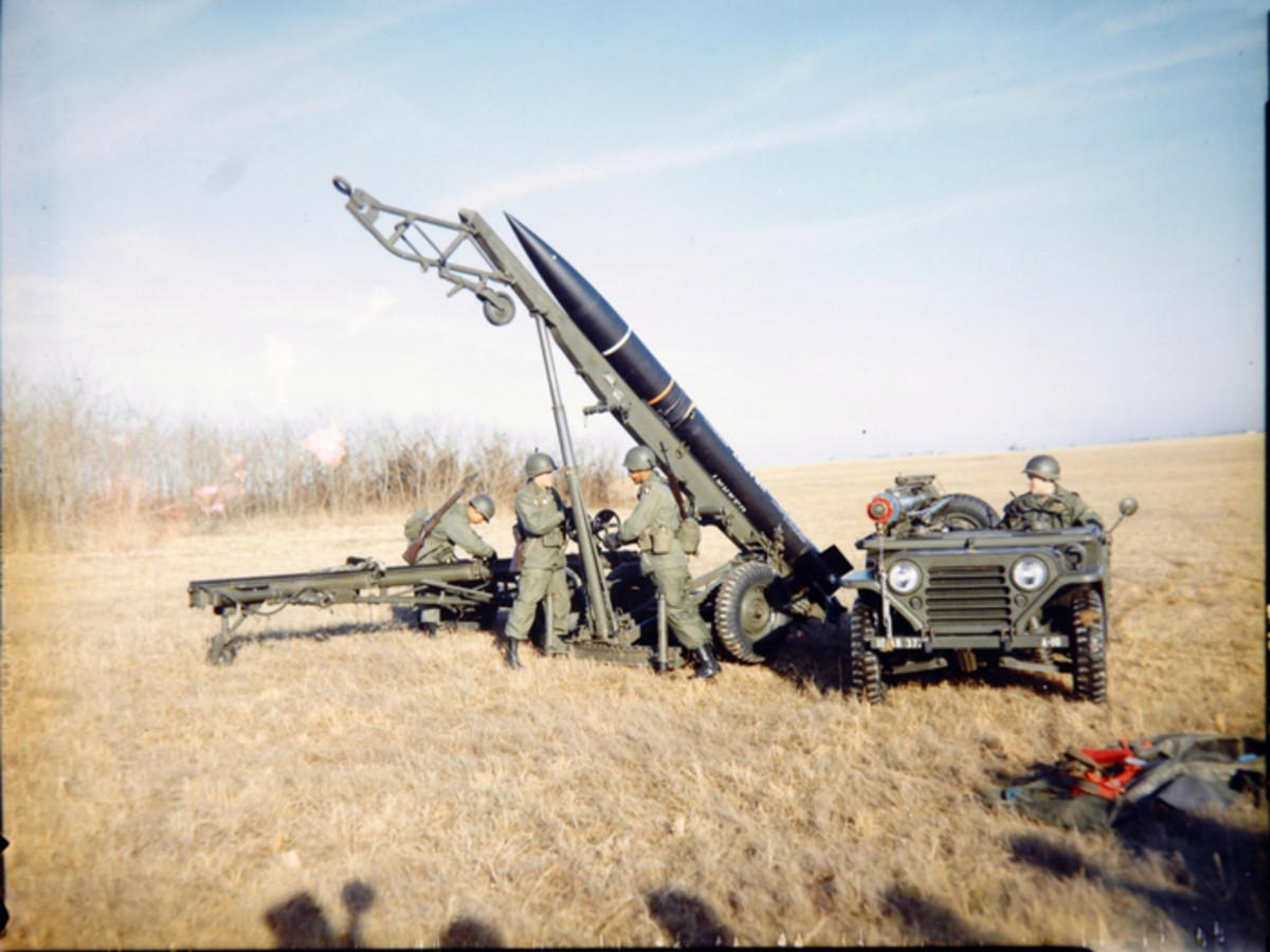 A straight, plain-Jane M151 of the 101st Airborne Division is used by GIs training with the Little John missile system in this 1962 photo. The Little John could carry a small nuclear warhead 10 miles. It was never used operationally. The MUTT, on the other hand, had an unrefueled range of about 300 miles, and a top speed of 55mph.