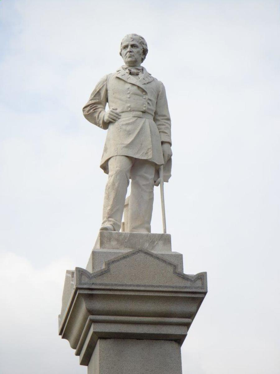 Monument celebrating General and President Zachary Taylor at the National Cemetery in Louisville, Kentucky, named in his honor.