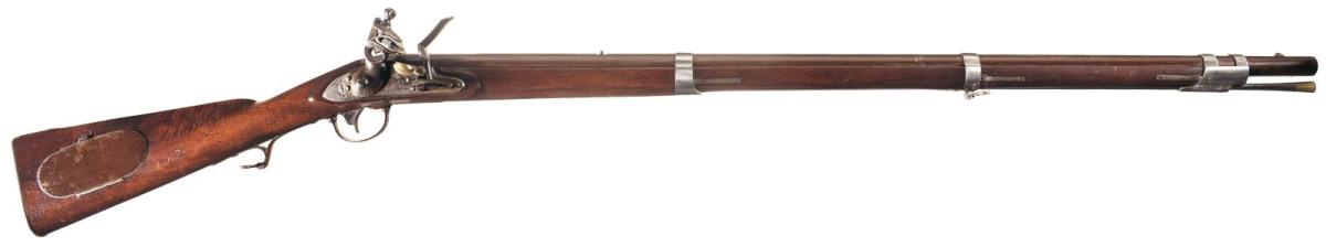 """U.S. Model 1817 """"Common Rifle"""" that was manufactured by Robert and John D. Johnson in Middletown, Connecticut, in 1824. This rifle was manufactured during the first year of Johnsons' five year U.S. contact for 3,000 Model 1817 rifles"""