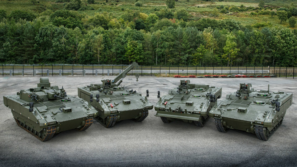 General Dynamics Land Systems–UK is delivering 589 AJAX vehicles across six variants – Ajax (turreted variant), Ares (reconnaissance support), Apollo (equipment repair), Atlas (equipment recovery) and Argus (engineering reconnaissance) – to the British Army. The name Ajax is also applied to the family as a whole.