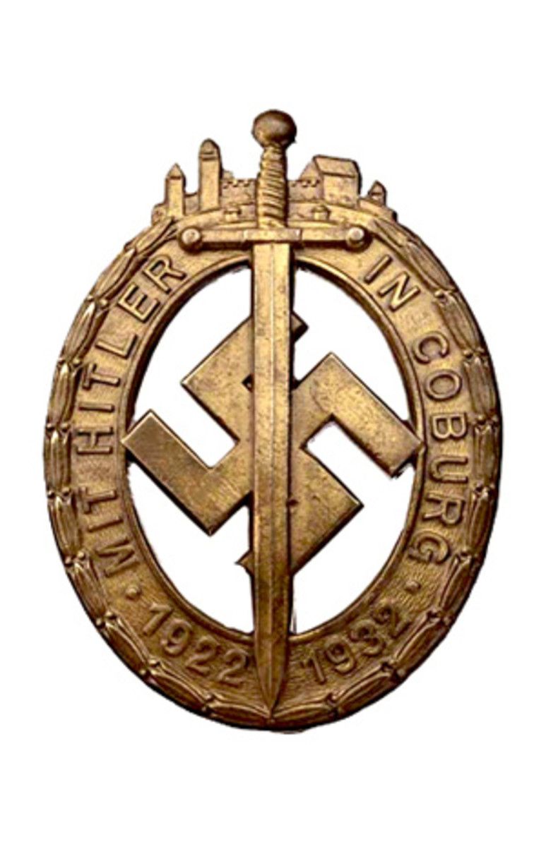 The Coburg Badge was the first badge recognized as a national award of the Nazi Party or NSDAP..