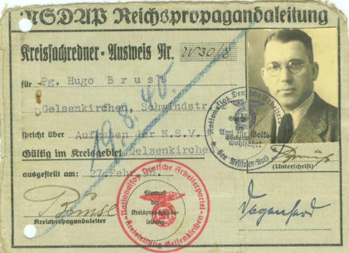 Nazi Party District Spokesman's ID Card (Obverse)