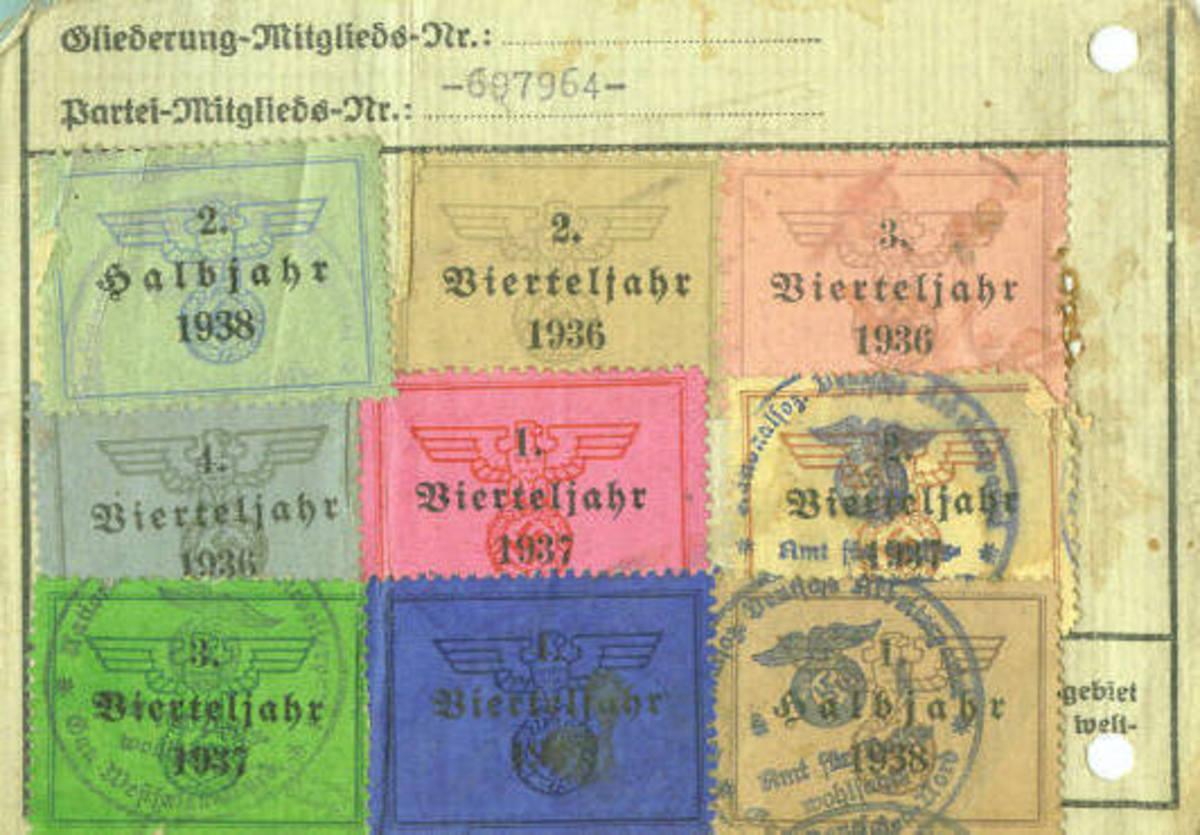 Nazi Party District Spokesman's ID Card (Reverse)