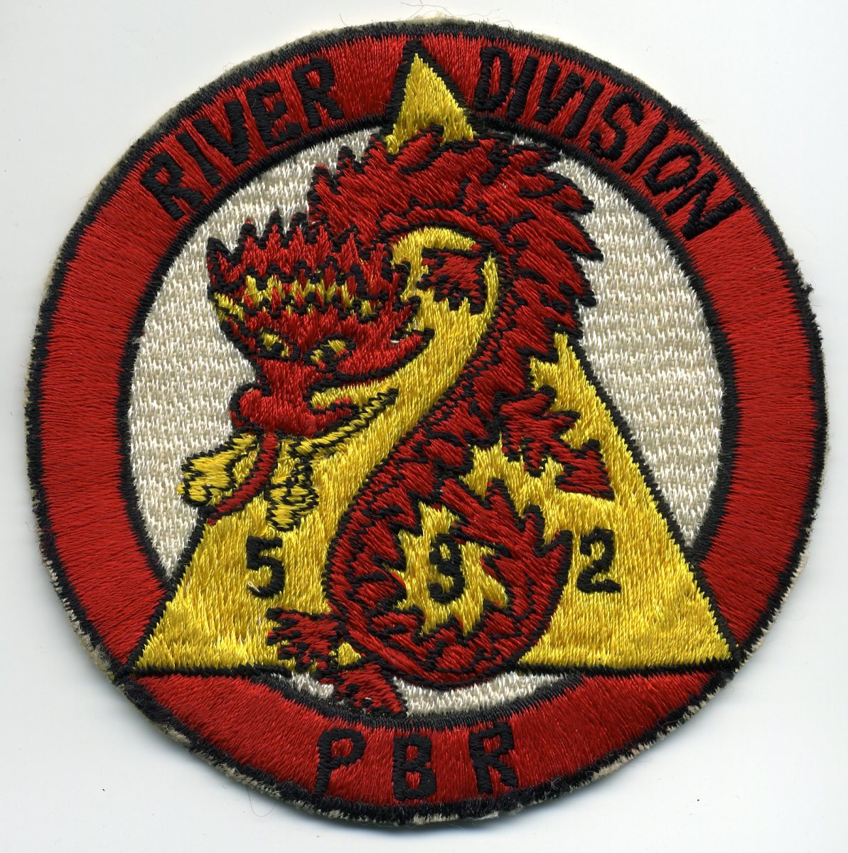Original, late-1960s Japanese-made River Division 532 version worn by the unit.