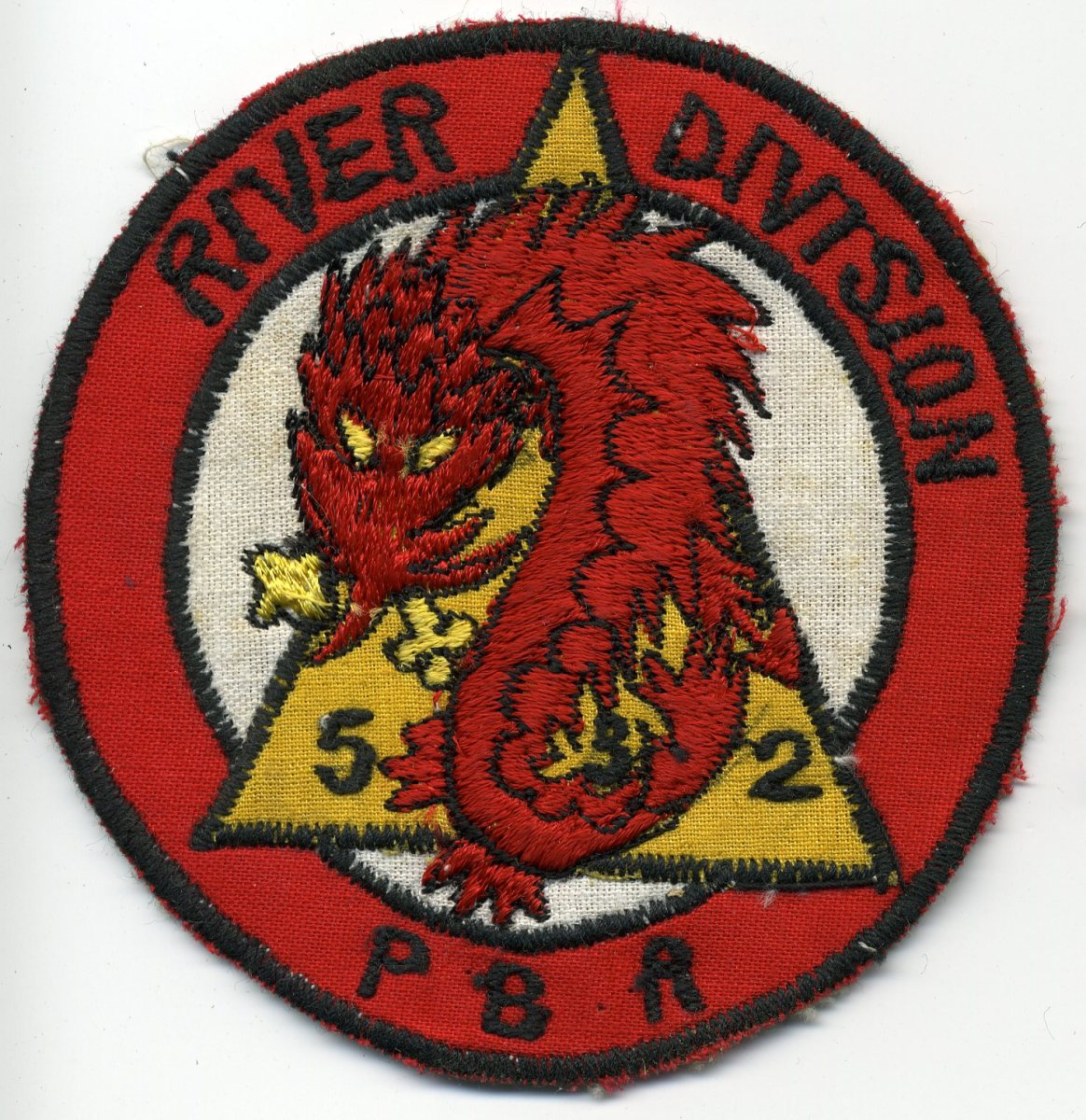 """Post-1972 """"Cheap Charlie""""-style patch that was never worn by members of Task Force 116."""