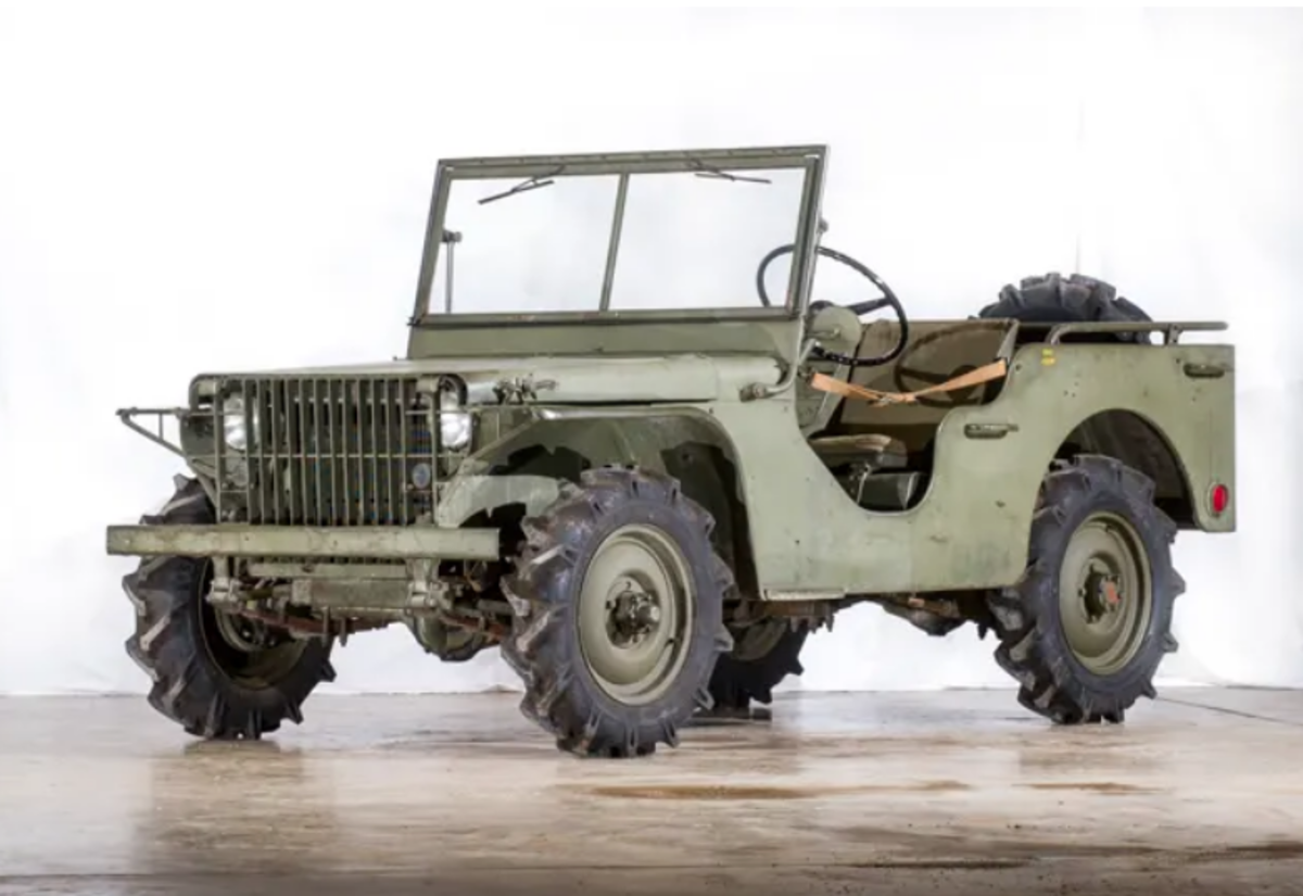 The 1940 Ford Pilot Model GP-No. 1 Pygmy, features a low silhouette, a flat-hood and a slat-grille incorporating the headlights within the body for protection. GP-No. 1 remains almost entirely unrestored.