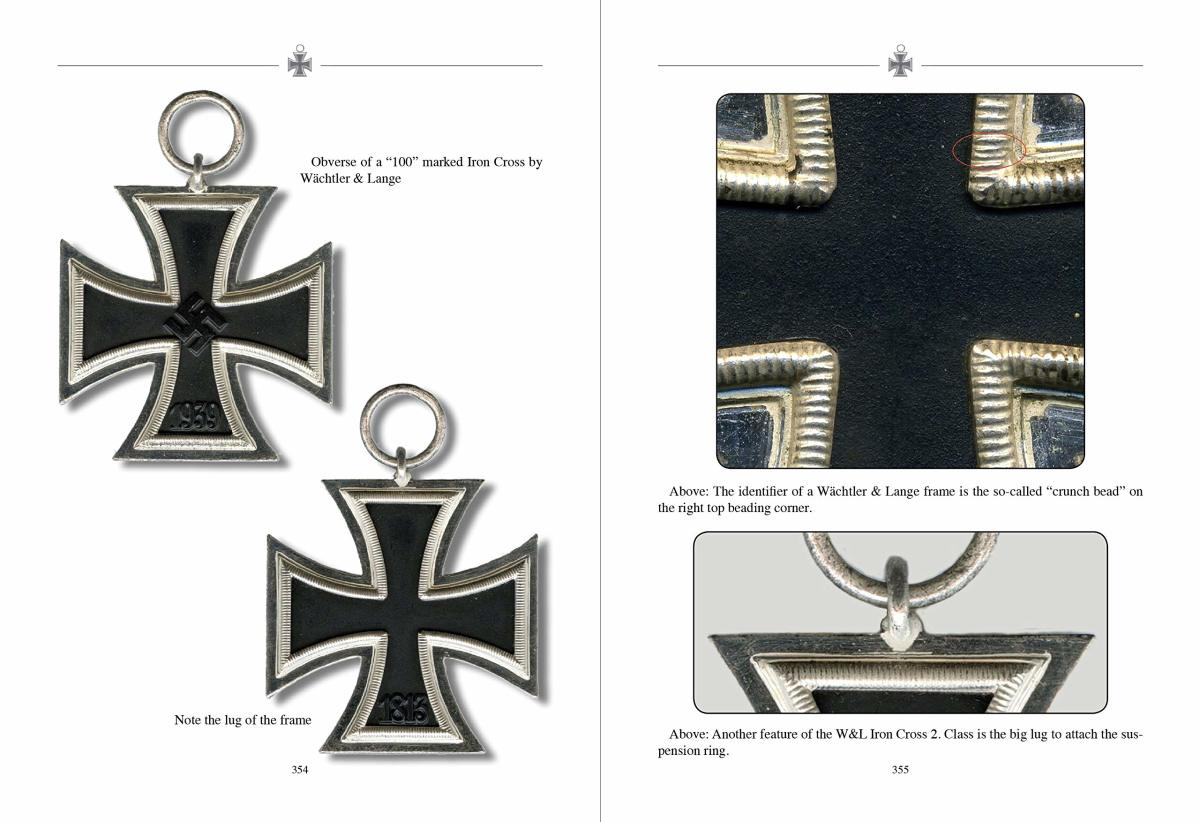 Samples pages showing details of Iron Crosses