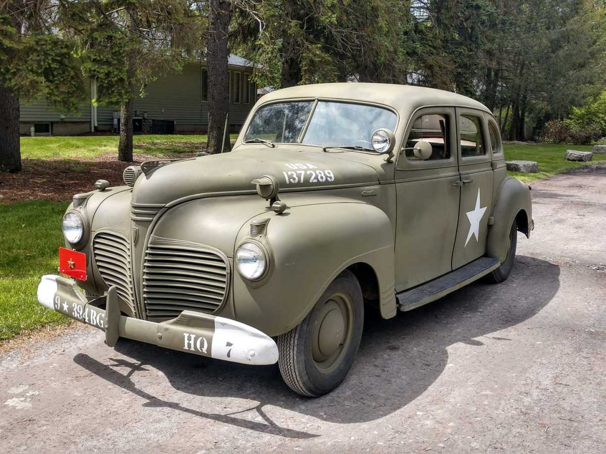 Kenny Ganz's 1941Plymouth Special Deluxe Staff Car with 221 votes.