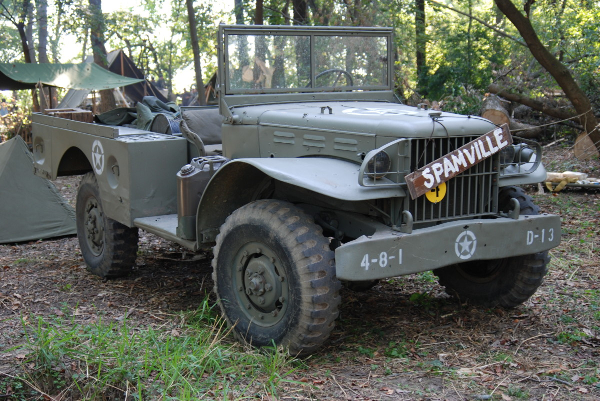 """The 3/4-ton Dodge """"Weapons Carrier"""" is the most popular WWII vehicle in the hobby —second only to the venerable Jeep. Large enough to carry eight people and tow light loads, a WC-51 (without winch) will fit in most modern car garages."""
