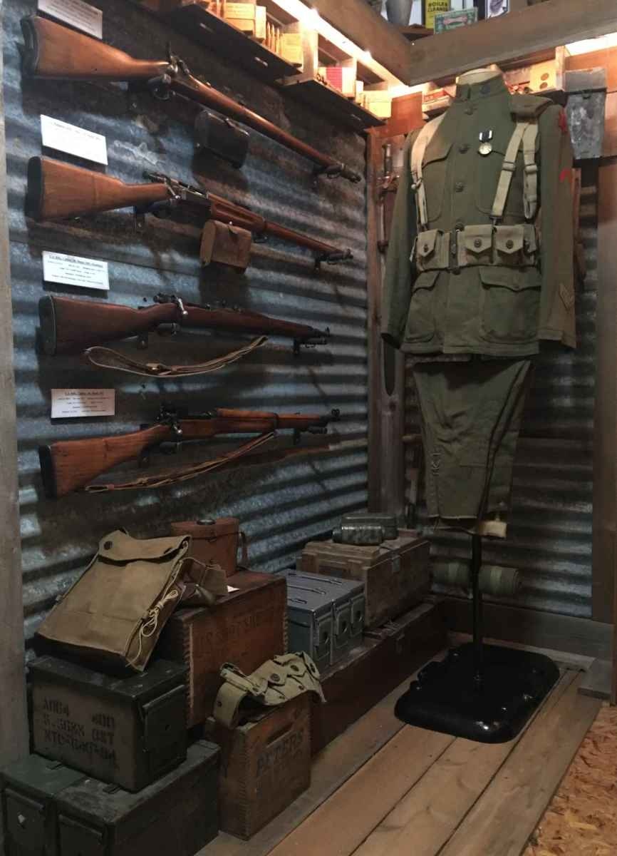 "Brian Wise: ""I want to add a support to my mannequin so I can have either the uniform's matching overseas cap or my 91st Div. Brodie to sit head-high. I also want to add a support so that I can have either my 1903 or 1917 presented at the uniform's side."""