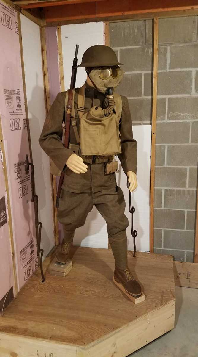 "Shane Steven: ""I use some busts for some displays to a nice effect. It is just the gear. I am doing one of a doughboy that is full body with face, but that is because it is a 1:1 scale diorama."""
