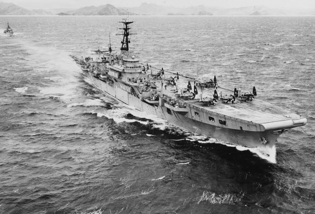 HMS Triumph was a Royal Navy Colossus-class light fleet aircraft carrier. She served in the Korean War and later, after reconstruction, as a support ship.