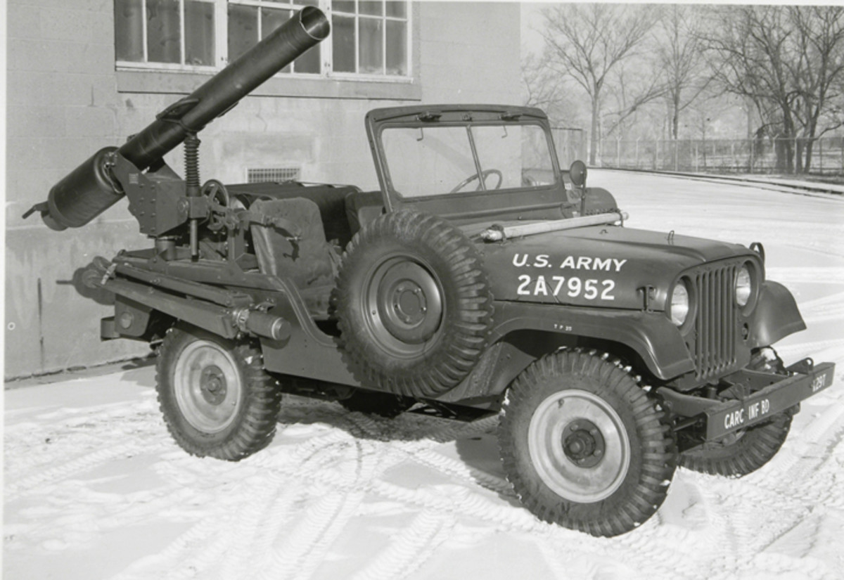 A heavy weapon version, the XM-29 had a 155mm tube, but launched the same M-54 warhead 2.50 miles. About 50 M38A1D vehicles were converted from M38A1s.