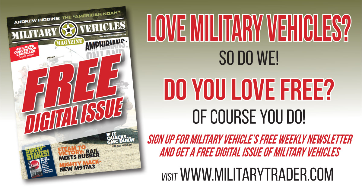 Get a free sample download of Military Vehicles Magazine