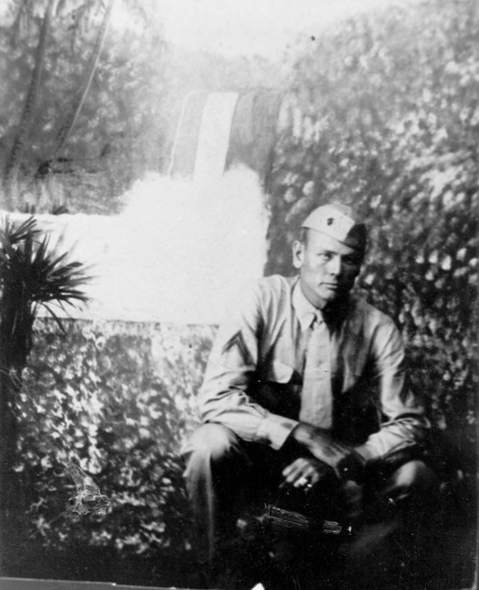 Last known photo of Cole taken after recovering from his wound on Tinian.