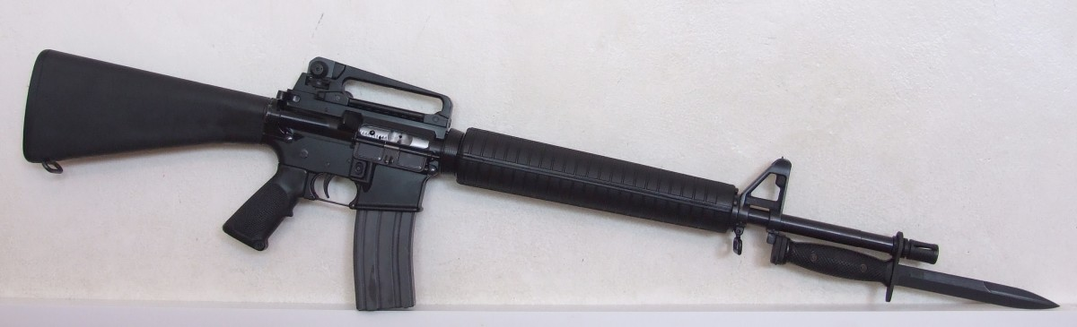 M16A4 rifle with M7 bayonet affixed