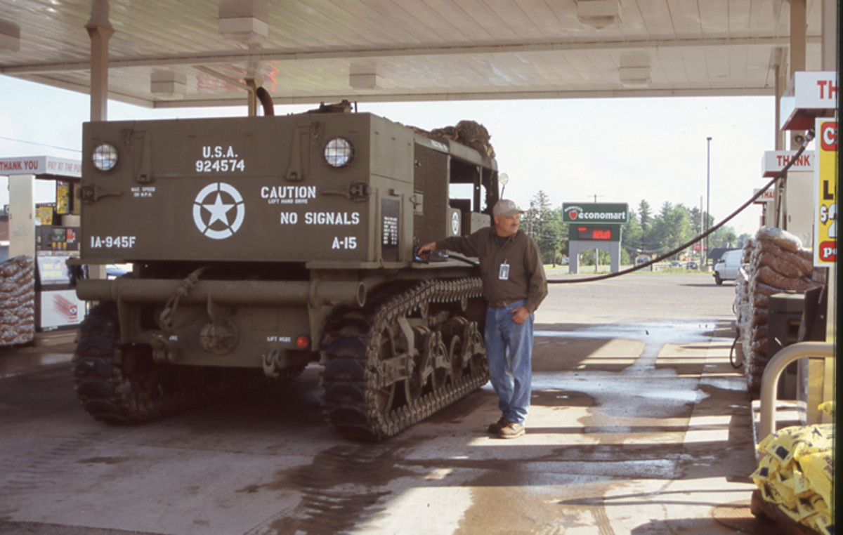 Kevin Kronlund gassing up an M4 High Speed Tractor