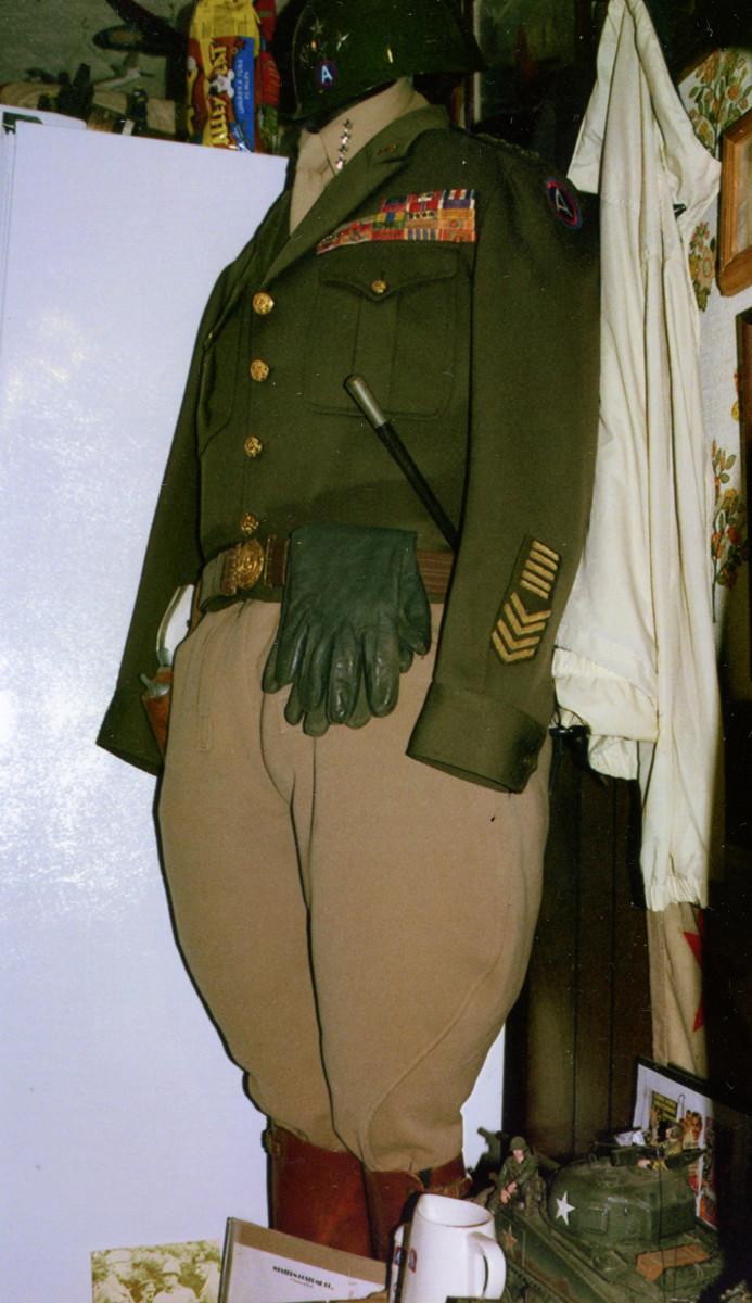 """This uniform was worn by George C. Scott in the 1970 movie, """"Patton."""""""