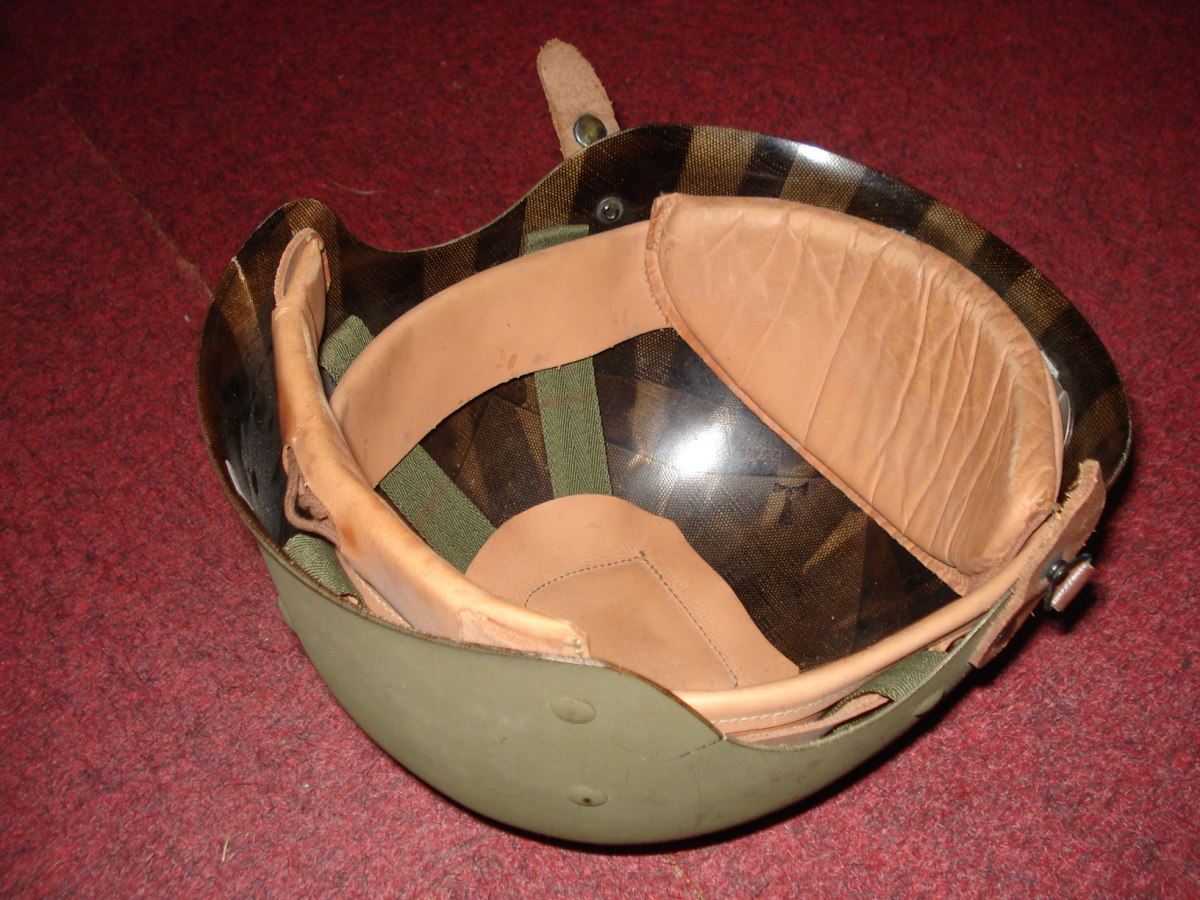 The 'Liner, helmet, M-1, Crash' was already in production by the Mine Safety Appliance Company (MSA) when the end of World War II brought a halt to all wartime production contracts. The 10,070 completed crash liners were used by the Army for training purposes well into the 1950s. The Army ceased trying to design a two piece helmet for tank crews after World War II ended and by 1948 was working on a one piece helmet design which would serve both armored and infantry.