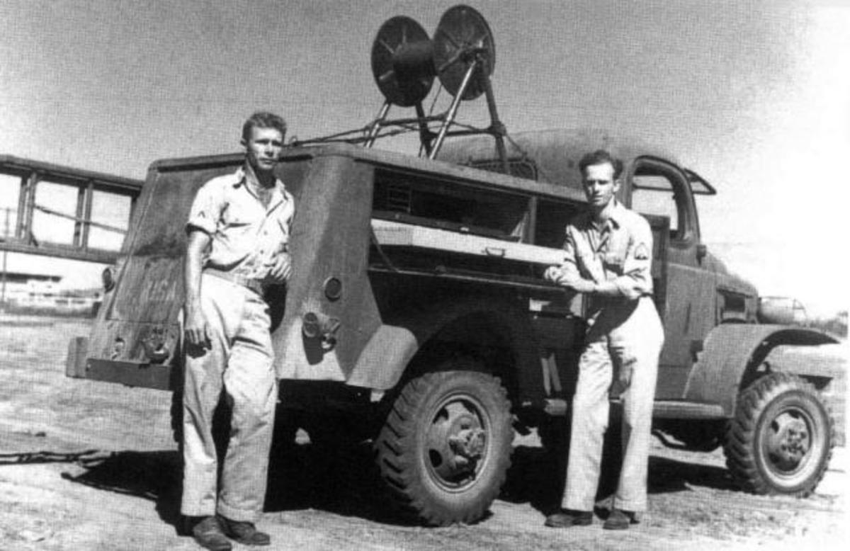 The WC-43 was originally configured as a telephone repair service truck. The Army used it to roll-out and repair telephone lines connecting headquarters with command posts in the front lines.