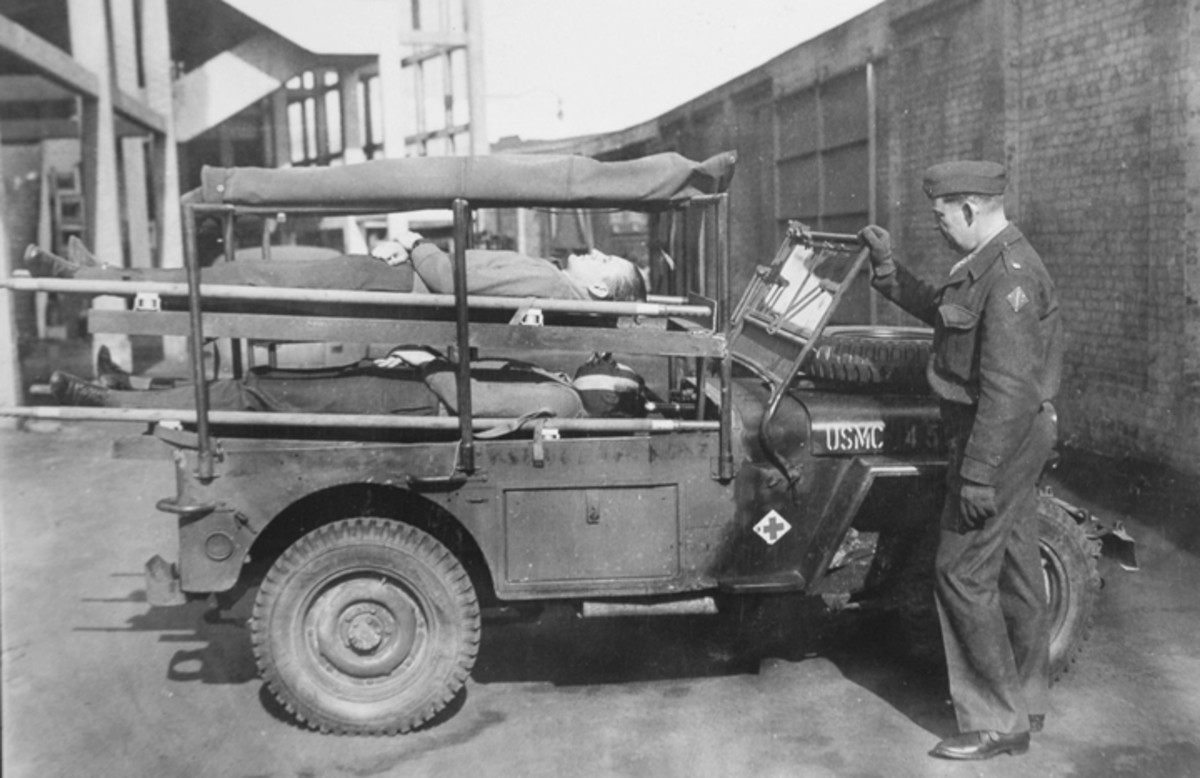 The glazing of the windscreen swung out and upwards, as did that of standard Jeeps. The windshield of the Holden Jeep could also still be lowered in the conventional way, though the spare tire limited its range of travel.