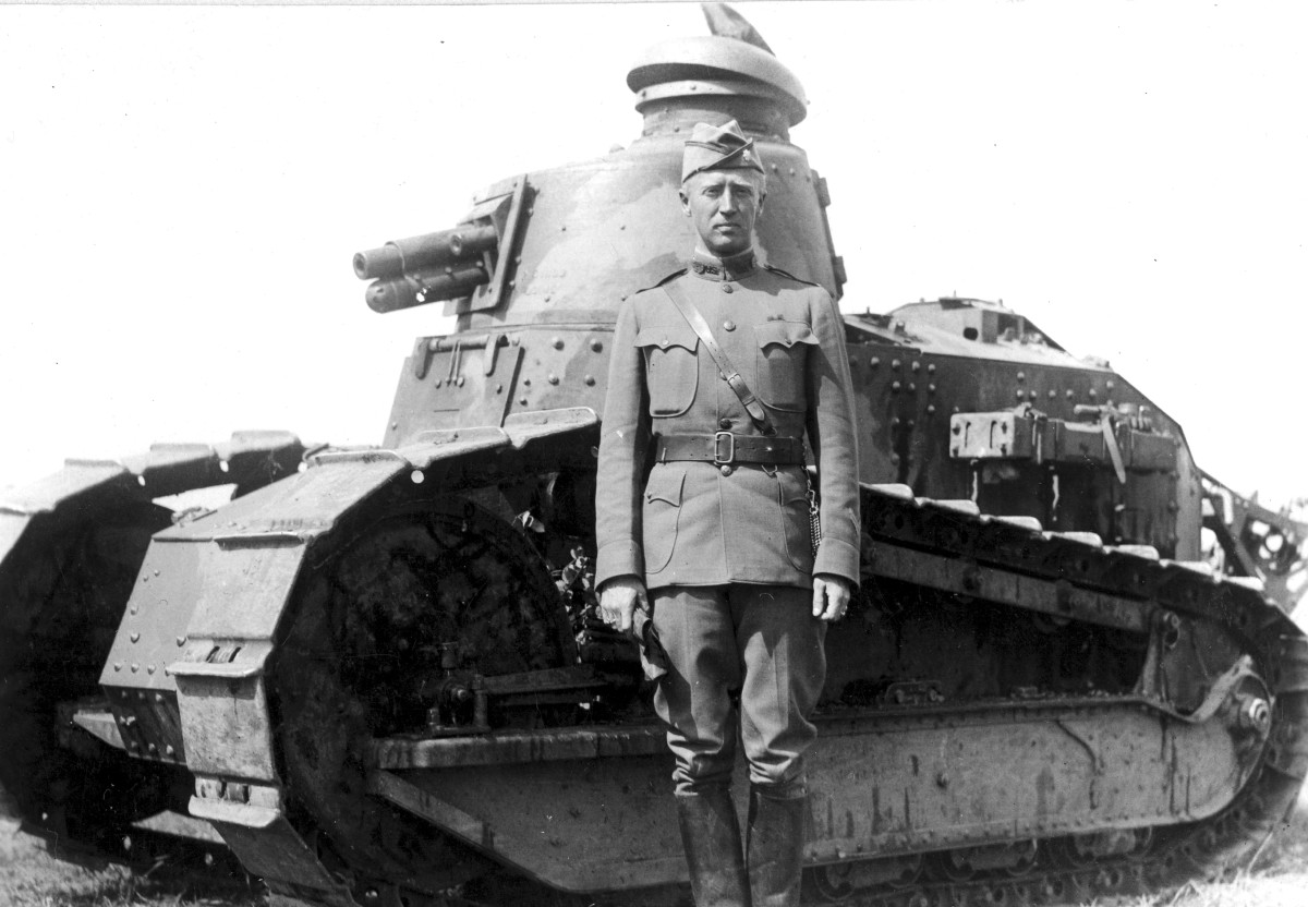 Then-Captain George S. Patton, Jr., was commanding the AEF Headquarters Company at Chaumont in the fall of 1917 when he was assigned the job of establishing an AEF tank school in France. Having no previous experience with tanks, Patton went through a two-week crash course at the French Light Tank Center and later visited the Renault Tank Works.