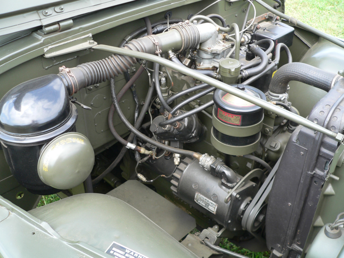 Willys MD F-head 4-cylinder powers the M170 developing 72 bhp at 4,000 rpm.