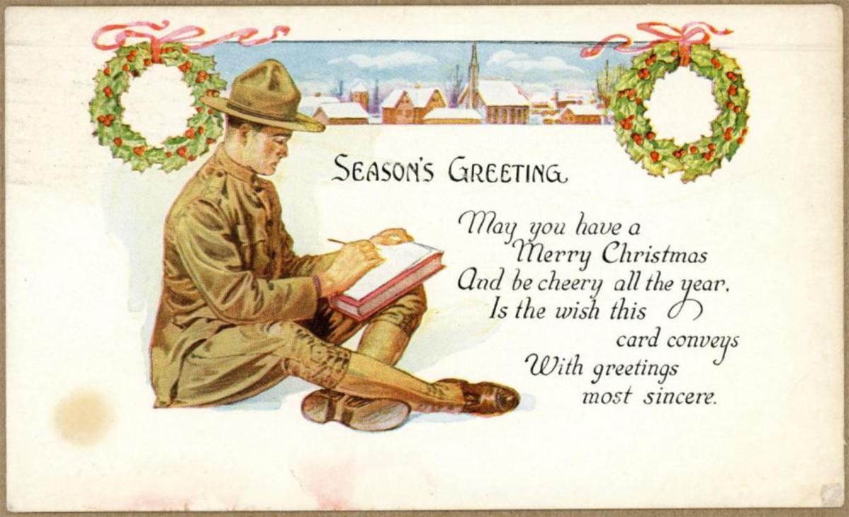 Christmas postcard, ca. 1917,