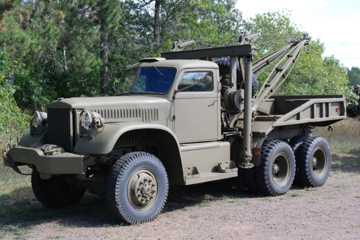 Diamond T 969 Wrecker restored by the Spooner Military Vehicle Preservation Group.