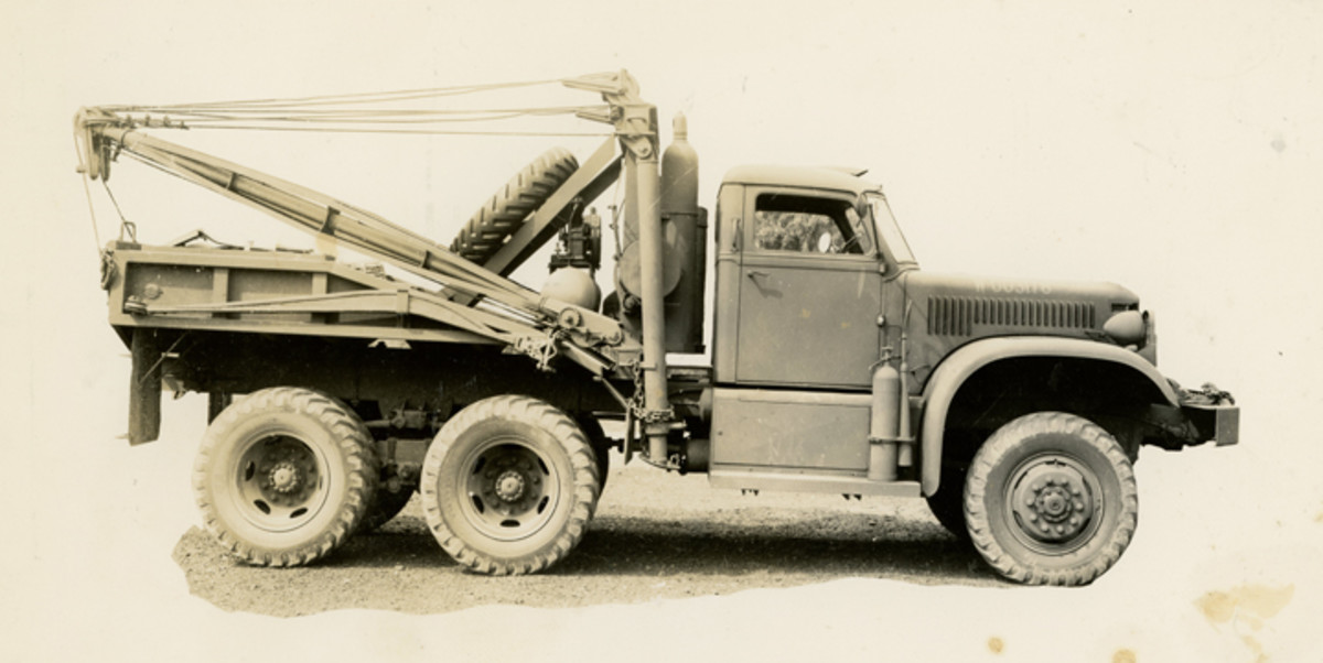 4-ton 6x6 wrecker with winch, photographed at Holabird Quarter Master Motor Base, Baltimore, June 25, 1941