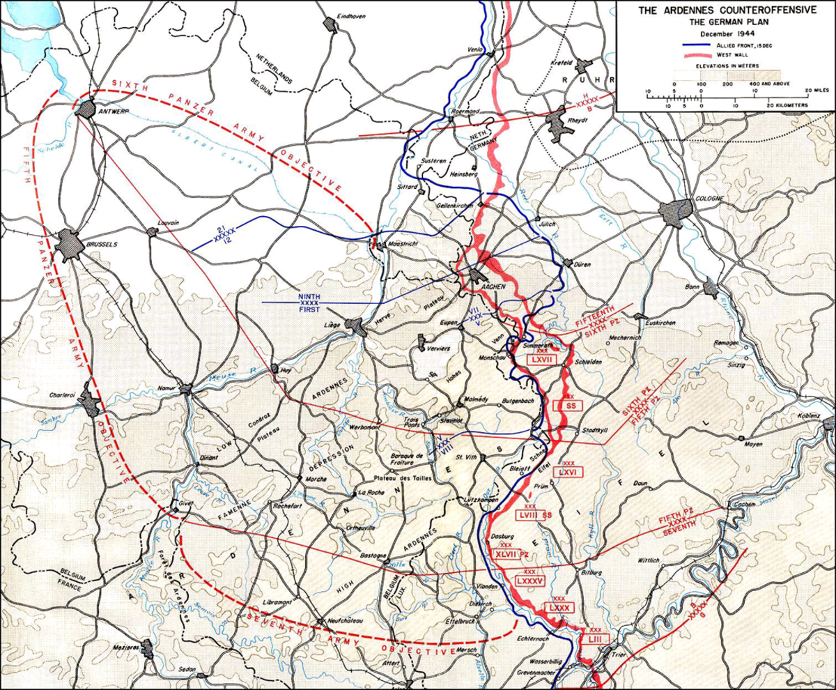 "The German plan for ""Operation Watch on Rhine"" — what would become forever known as the ""Battle of the Bulge."""