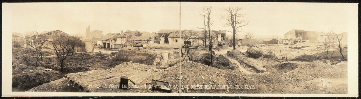 Flirey, a front line town in the St. Mihiel Salient, where heavy fighting took place.