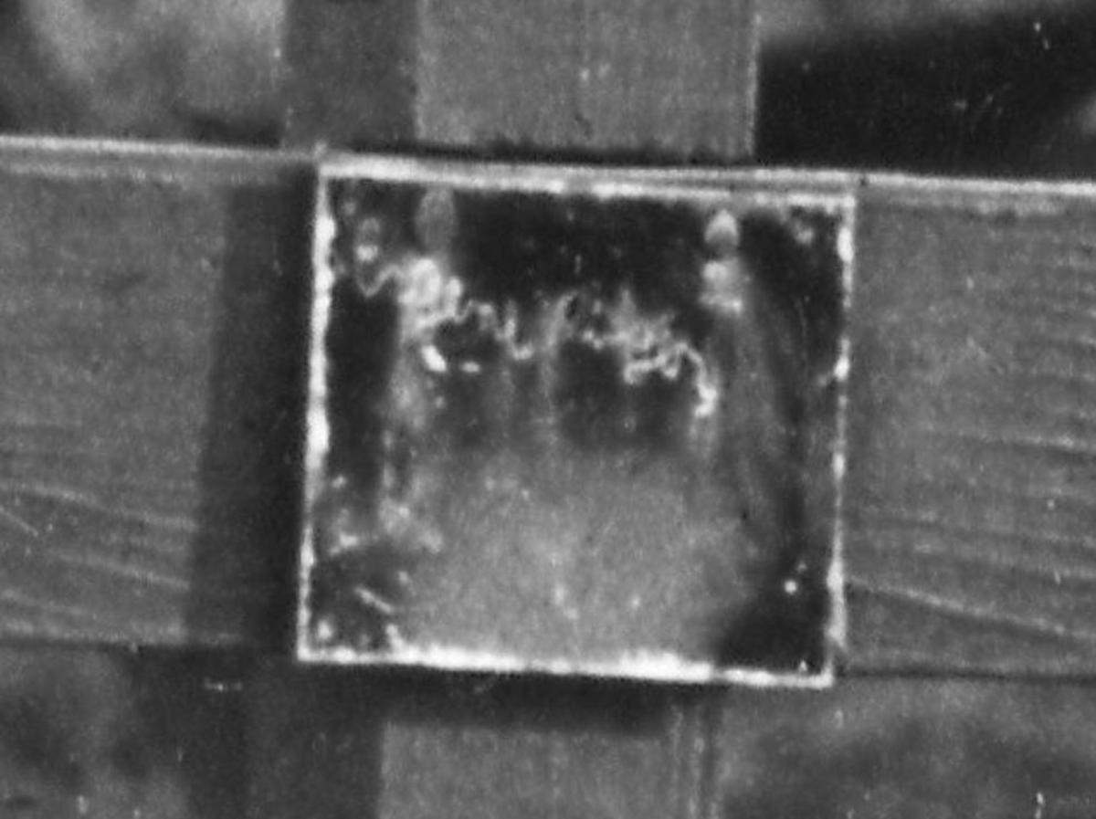 Close up up inscription on grave.