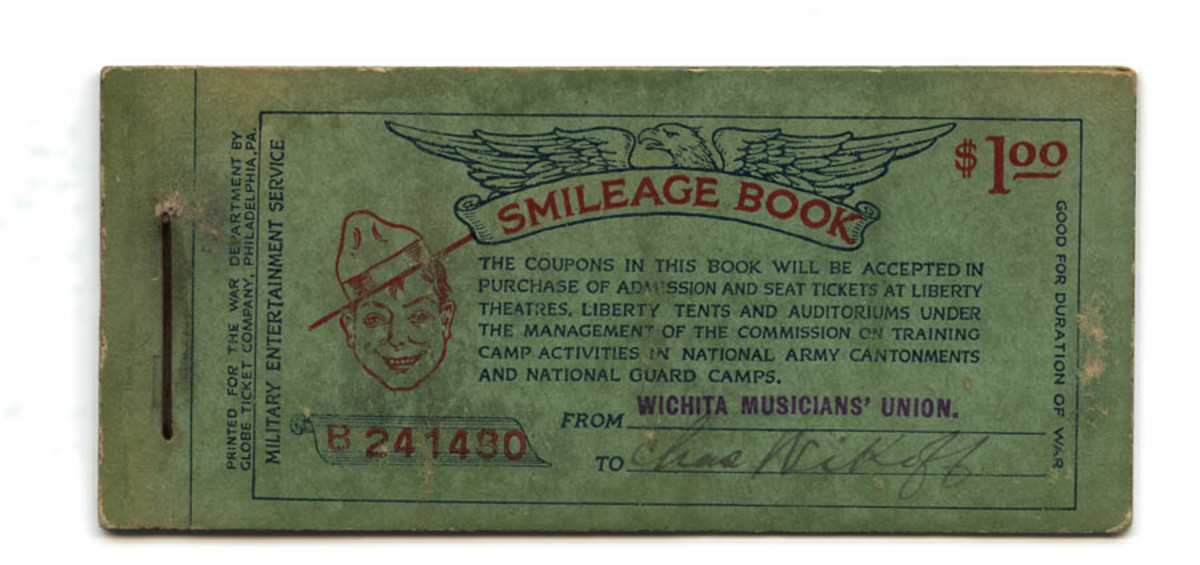 """Smileage Book"" containing coupons for soldier entertainment"
