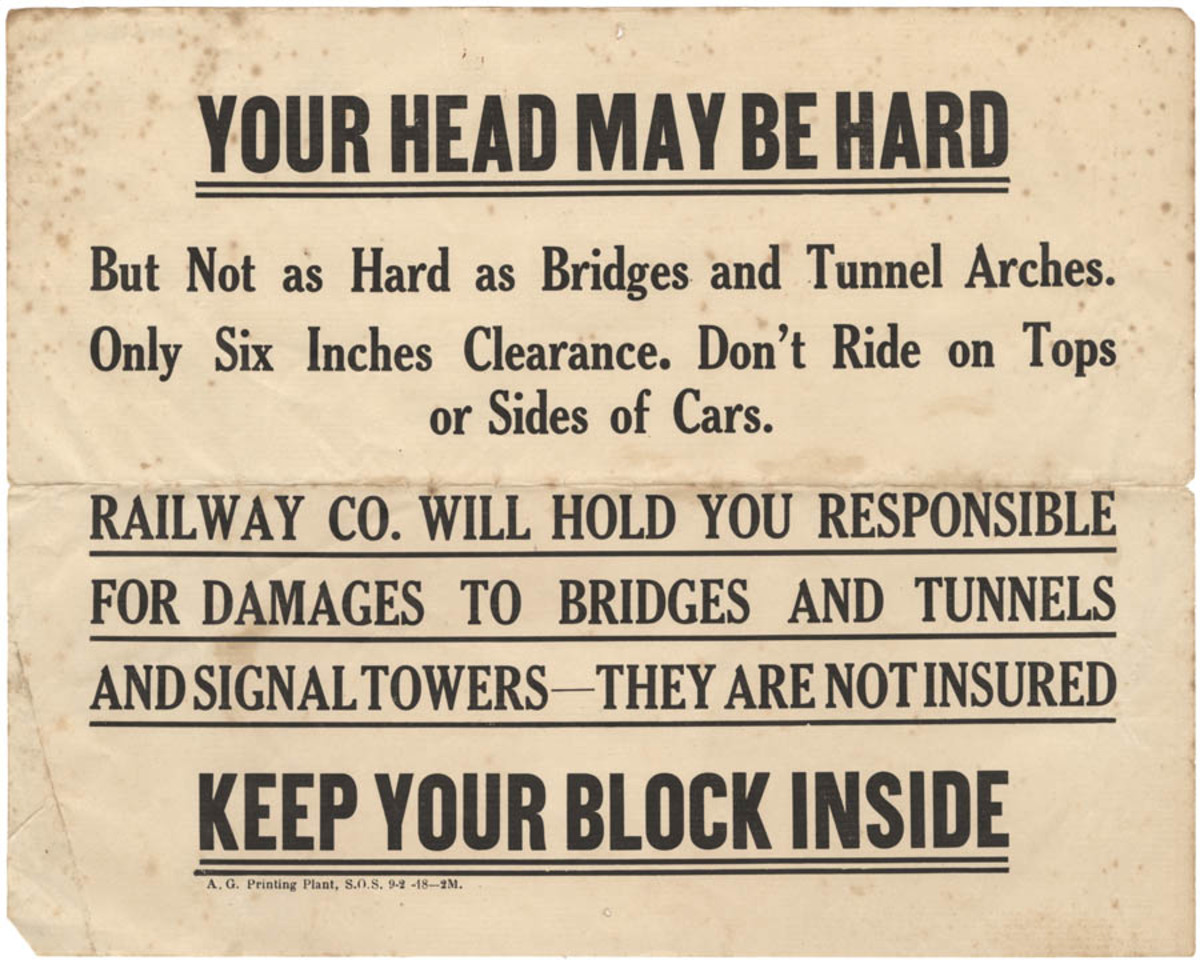 PSA Broadsides for Train Safety, American