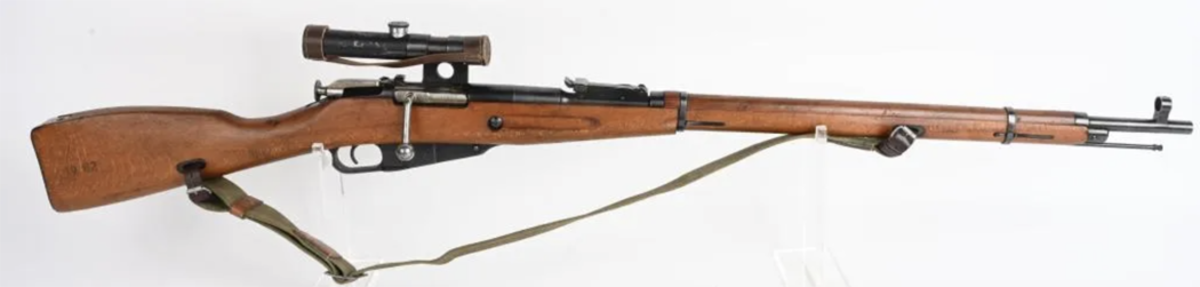 Rare Vietnam-captured Hungarian 91/30-M52 sniper rifle, 1953, one of the rarest of all Mosin-Nagant variations and one of only a handful known to have originated from the Vietnam War. Provenance: Gary Thomas collection.