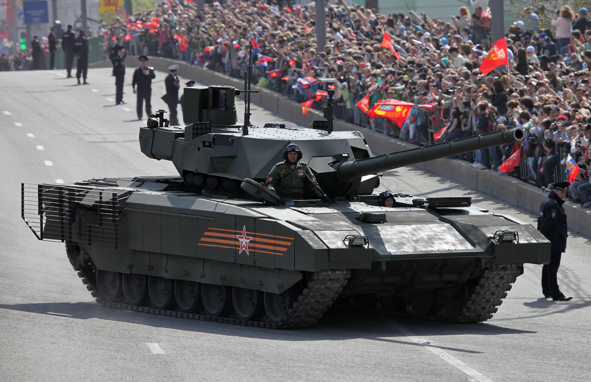 """The T-14 Armata (Russian: Т-14 «Армата»; industrial designation """"Ob'yekt 148"""", Russian: Объект 148) is a next-generation Russian main battle tank based on the Armata Universal Combat Platform—the first series-produced next-generation tank."""